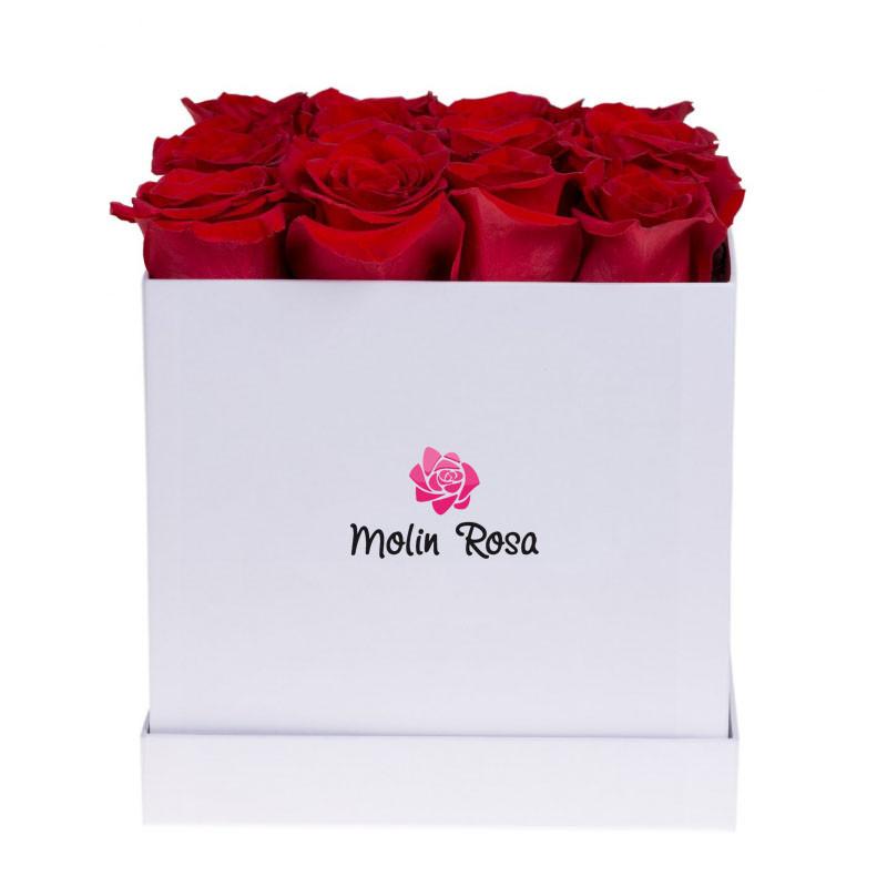 rose in scatole, Rose stabilizzate, Rose rosse