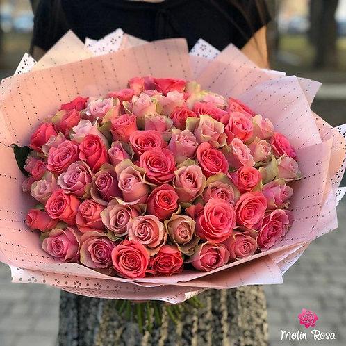 Bouquet Molin Rosa | Bouquet Molin Rosa 60 pz. | Consegna fiori a Milano