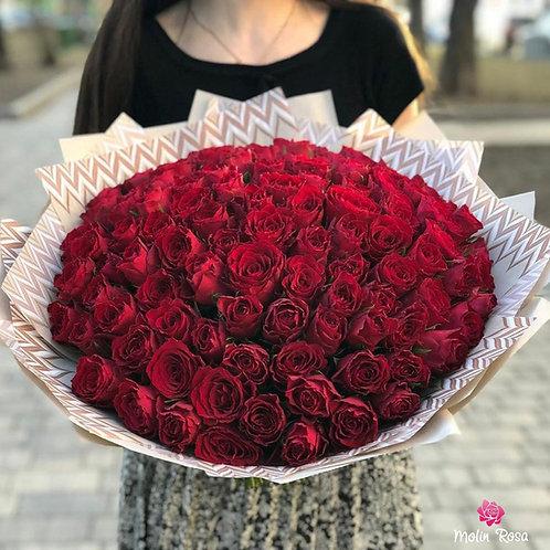 Rose Red Naomi 60pz. | Roses Red Naomi 60pcs. | Luxury Flowers online