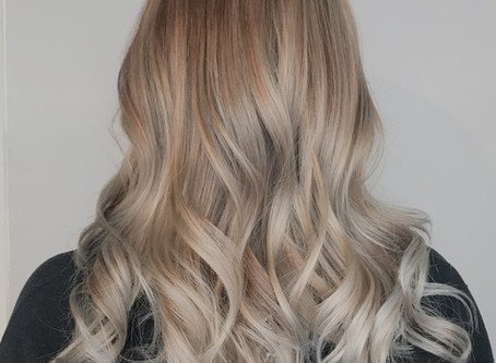 Ashy Balayage On Natural Blonde Hair
