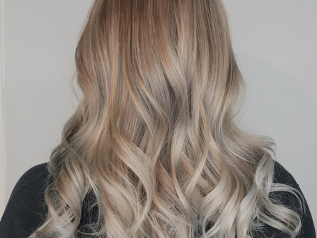 Ashy Balayage On Natural Blonde Hair