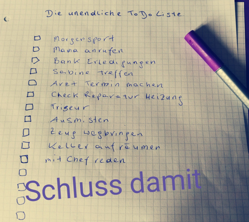 unendliche To-Do Liste