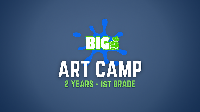 ART Camp (2 yrs. - 1st Grade)  Spots left in our 2/3 year class and K/1 Class