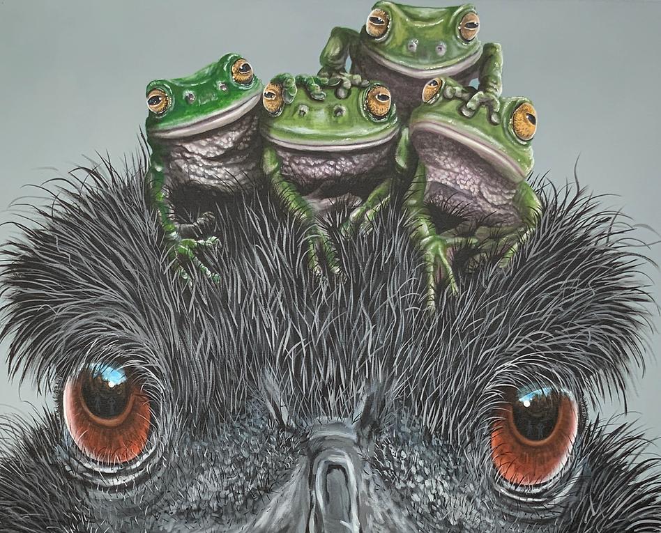 Emu painting by Fiona Groom