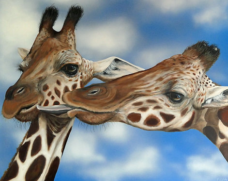 Giraffe art Fiona groom Animal art