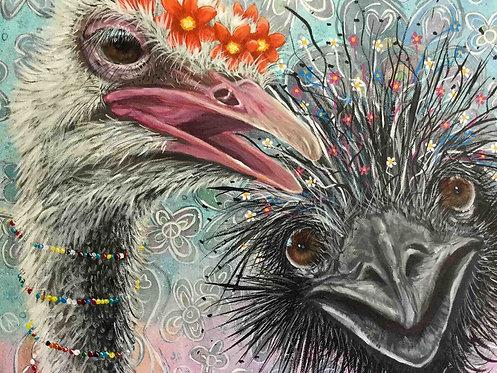 Ostrich & Emu Greeting Card