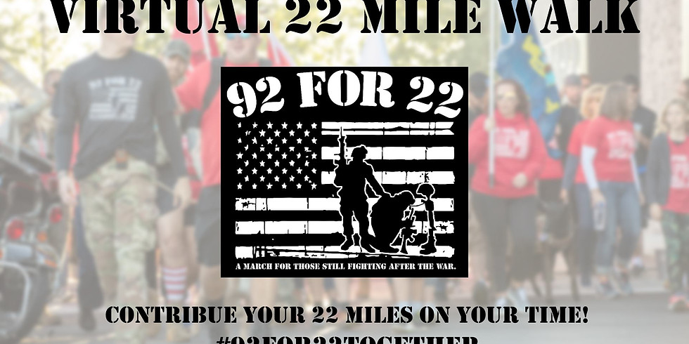 92 For 22 Virtual 22-Mile Walk