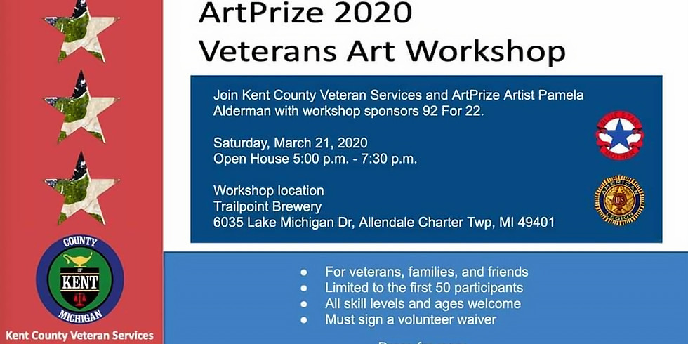ArtPrize 2020 Veterans Art Workshop 5-7:30pm