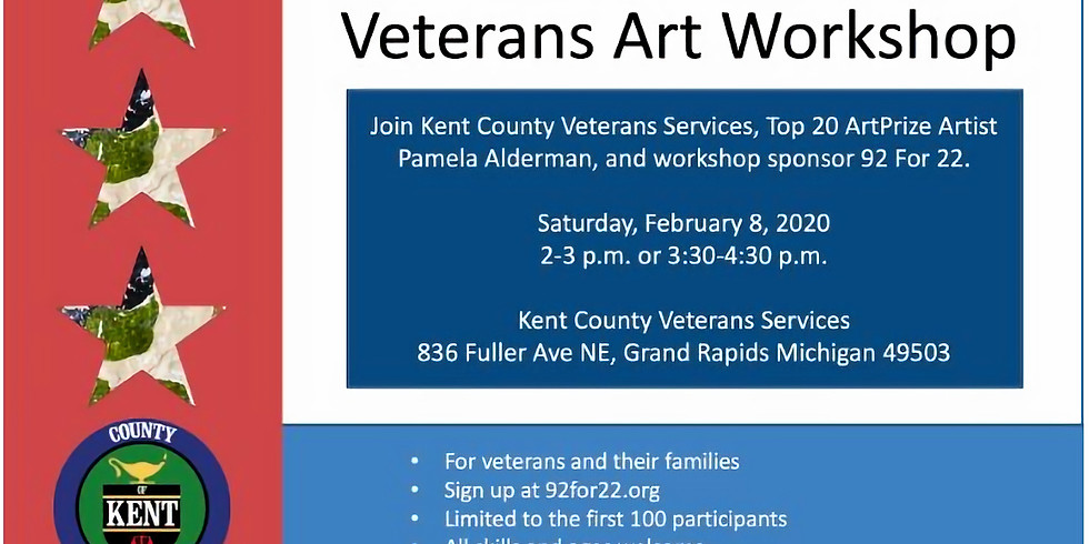 ArtPrize 2020 Veterans Art Workshop 2-4:30pm