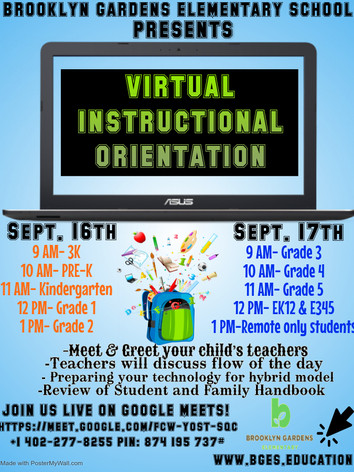 BGES Virtual Instructional Orientaion -