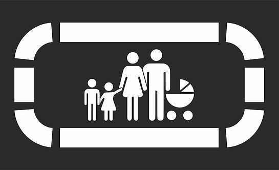road_marking_Parking_for_a_large_family_