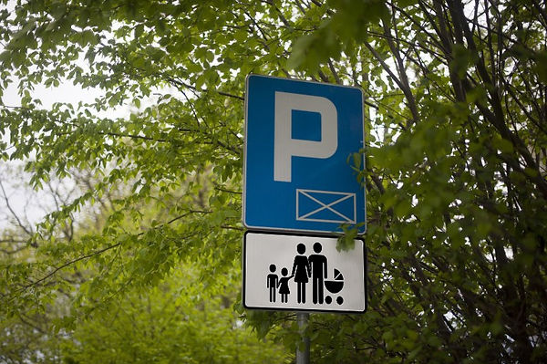 new_road_sign_Parking_for_families_ with