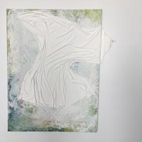 "30""x24"", mixed media on canvas"