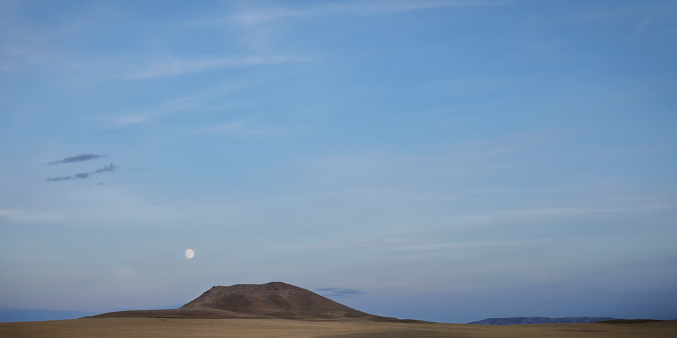 moon rise over lone butte