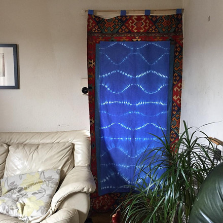 Ben's Tie-dye Door cover w/ border