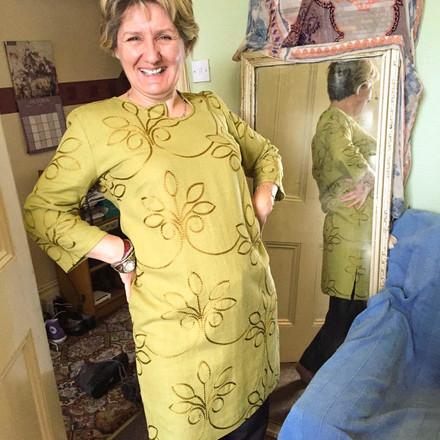 Jane's Silk Dress