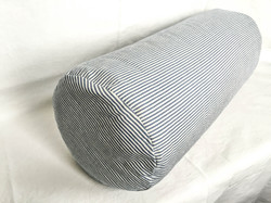 Blue and white Striped Bolster