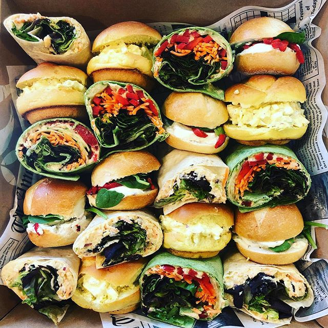 We sent a bunch of catering out today, b