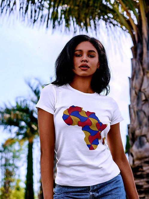 "Tshirt Femme - ""MAP AFRICA COLOR """