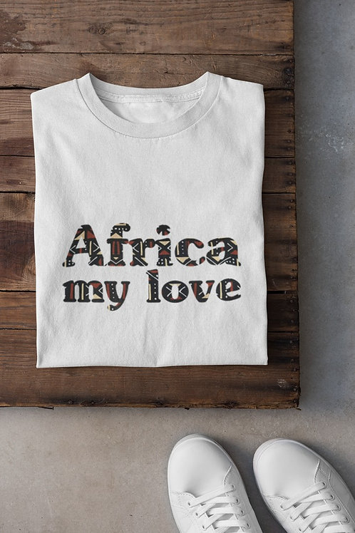 "Tshirt Unisexe ""AFRICA MY LOVE BOGOLAN"""