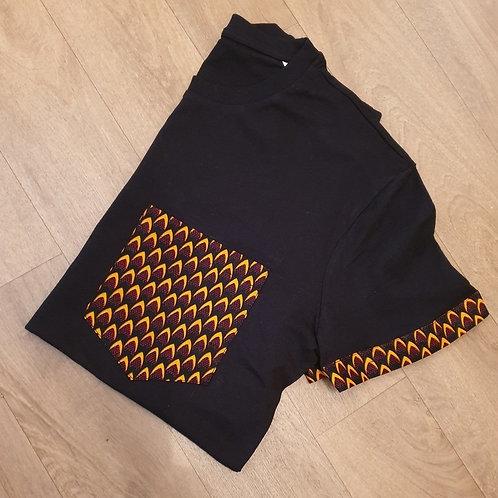 Tshirt Femme - Black Wax Pocket Fuego