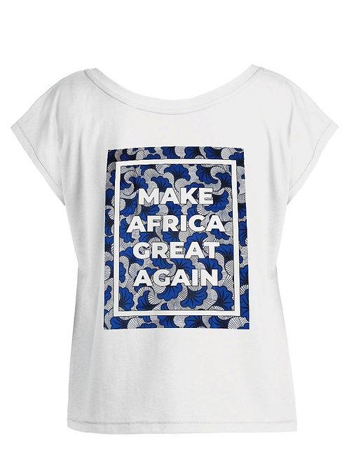 "Tshirt Femme Oversize - ""MAKE AFRICA GREAT AGAIN BLUE"""