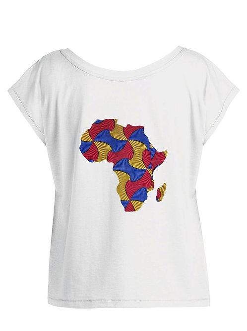 """Tshirt Femme Oversize - """"MAP AFRICA COLOR """""""