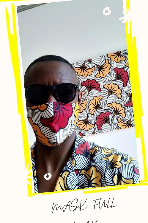 African wax mask face (fleur)