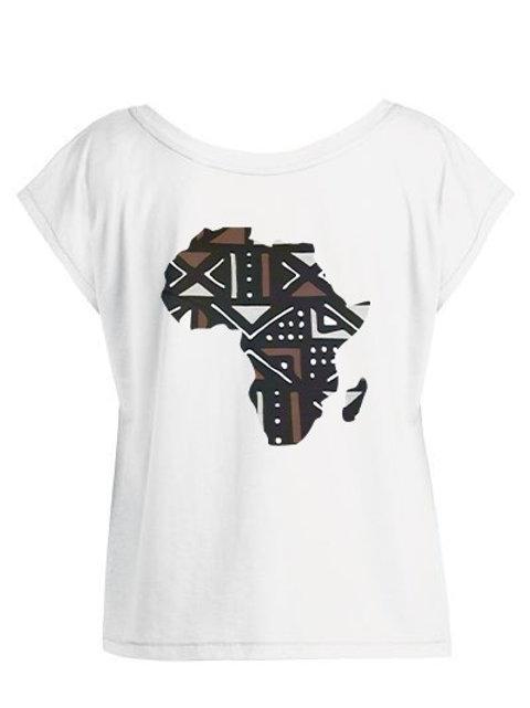 Tshirt Femme Oversize - MAP AFRICA BOGOLAN