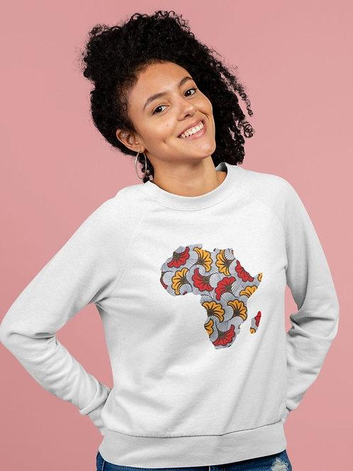 Crewneck Femme - MAP AFRICA FLEUR