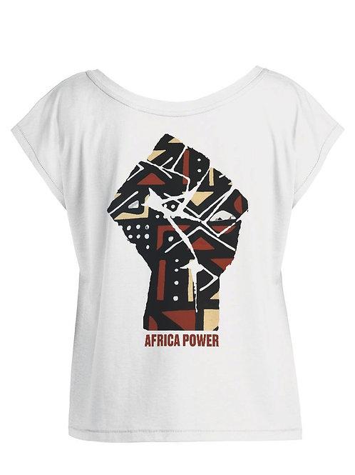 """Tshirt Femme Oversize - """"AFRICA POWER BOGOLAN"""""""