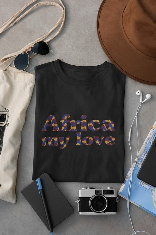 """Tshirt Unisexe """"AFRICA MY LOVE COLOR"""""""""""