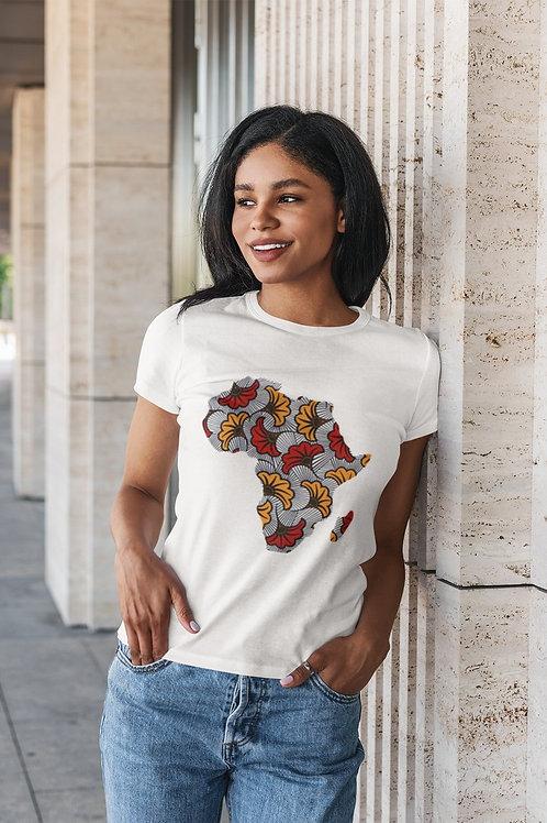 """Tshirt Femme - """"MAP AFRICA FLEUR """""""