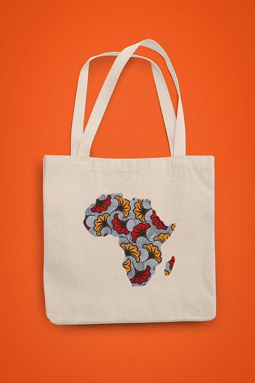 TOTE BAG Map Africa Fleur