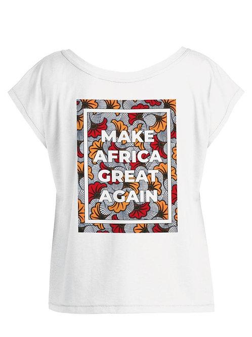 Tshirt Femme Oversize - MAKE AFRICA GREAT AGAIN