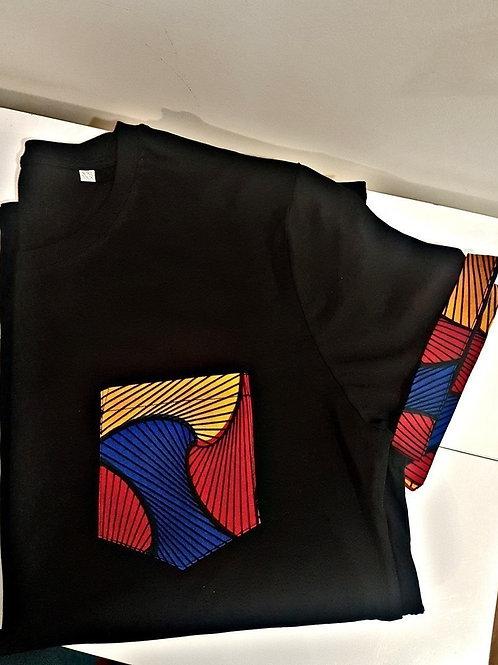 Tshirt Homme - Black Wax Pocket Color