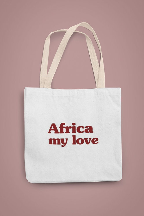 "TOTE BAG ""Africa my love"""