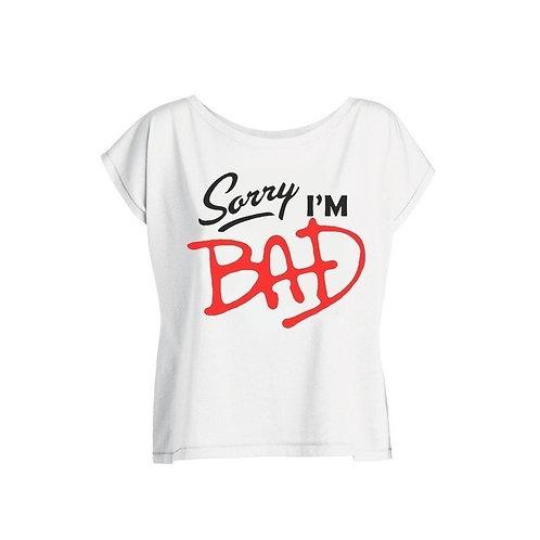 Tshirt Femme Oversize - Sorry I'm Bad