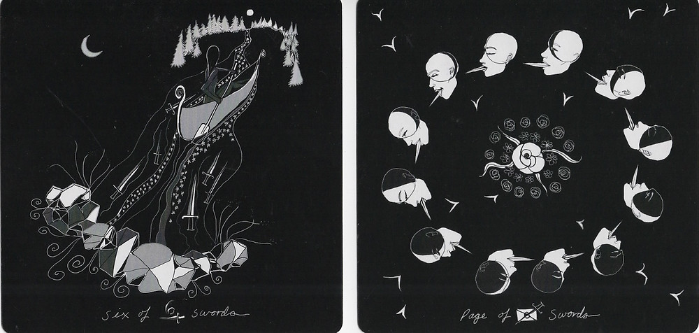 Dark Days Tarot 6 and Page Swords