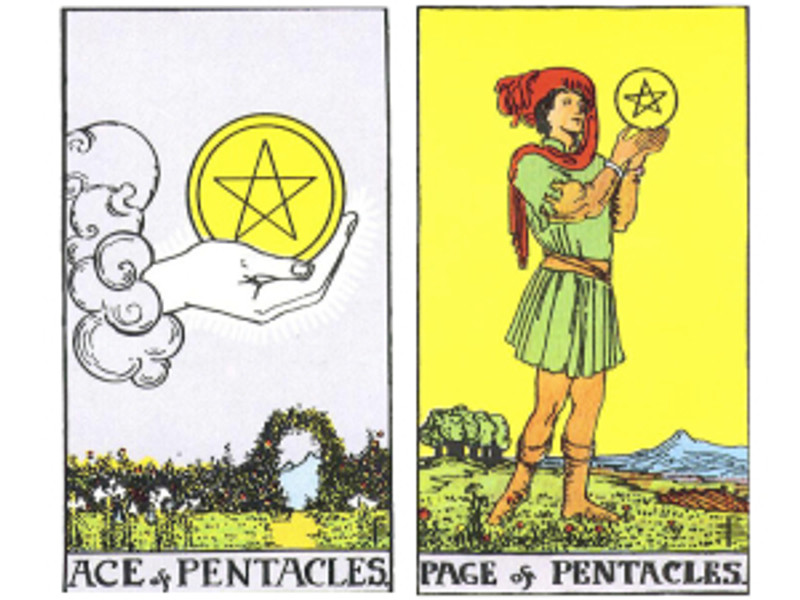Ace of Pentacles and Page of Pentacles: a positive result for conception and pregnancy