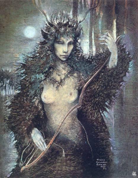 Moon Goddess Diana by Susan Boulet