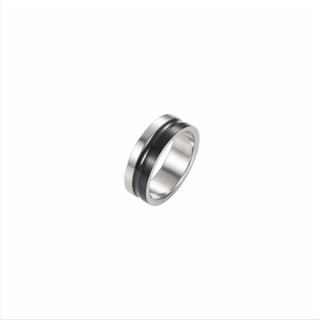 Polished Stainless Steel/Ion Plated Black Ring