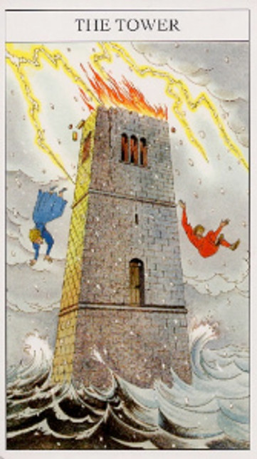 The Tower Sharman-Caselli tarot