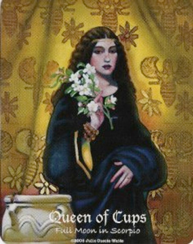 Queen of Cups from the MAAT Tarot by Julie Cuccia-Watts