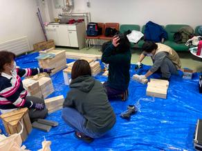 木工体験教室の準備をしました。