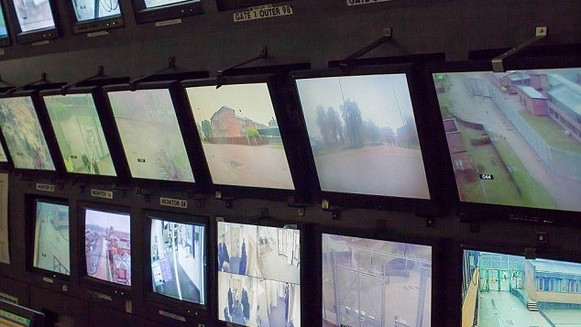 Security TVs inside Broadmoor