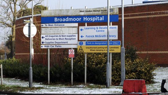 Broadmoor Hospital Sign