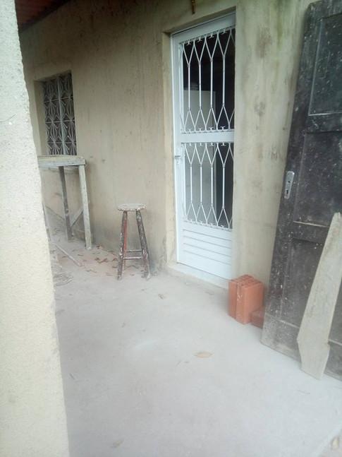 Vista do casa em construção