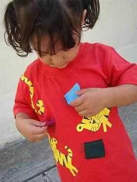 e.g. camisetas infantis