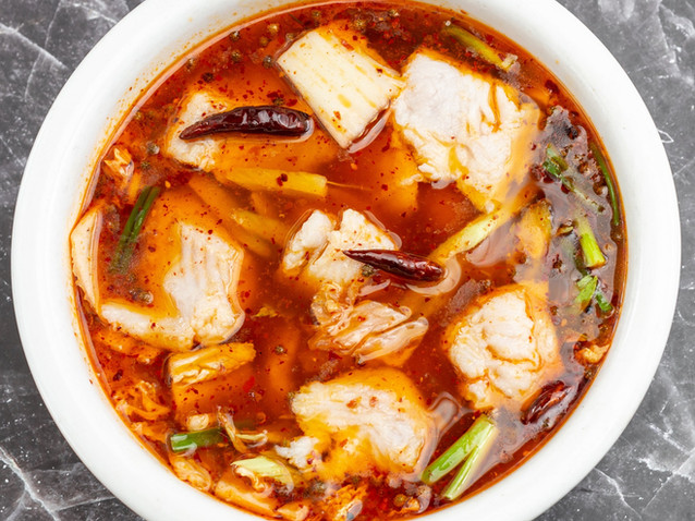Boiled Fish Fillet in Spicy Red Broth
